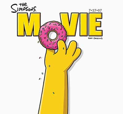 English poster for The Simpsons Movie
