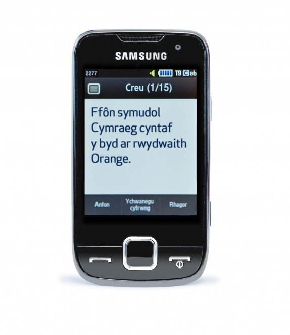 Welsh language mobile phone