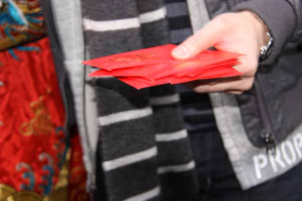 Red envelope of lucky money for Chinese New Year
