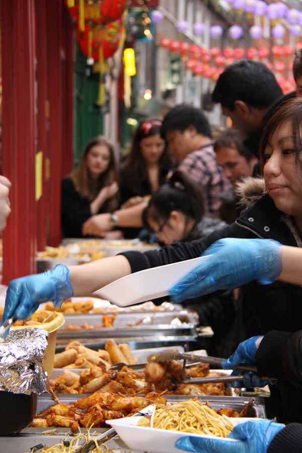 Street food during Chinese New Year in London