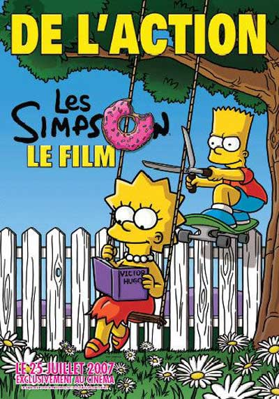 French poster for The Simpsons Movie