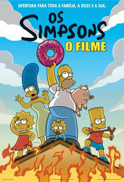 Portuguese poster for The Simpsons Movie