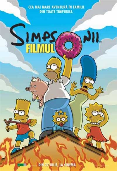Romanian poster for The Simpsons Movie