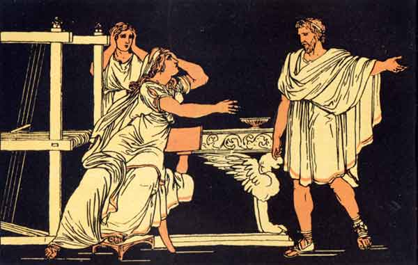 News of the death of Euryalus from Virgil's Aeneid