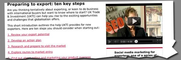 Preparing to export key steps