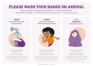 Coronavirus prevention poster - wash hands
