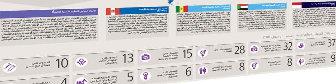 Detail of NGO factsheet typeset in Arabic, by WorldAccent, London