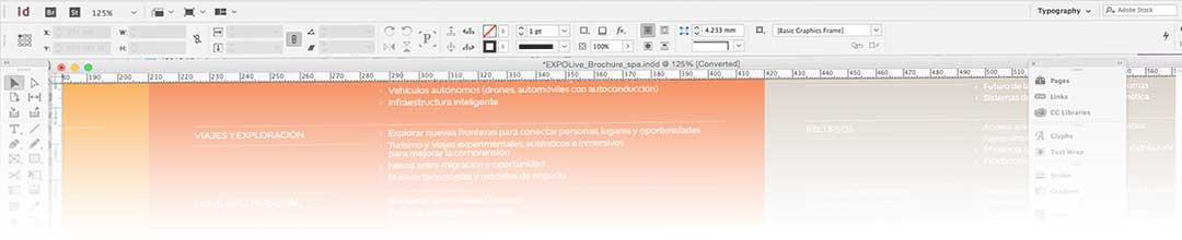 Translated Indesign document