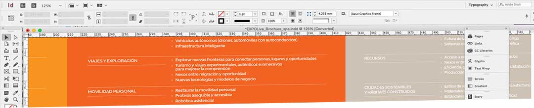 Indesign in use